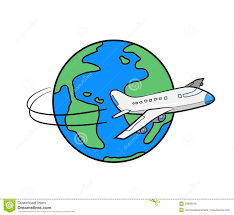 globe airplane flying around globe clipart clipartxtras
