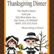 adorable thanksgiving and dinner invitation ecard design
