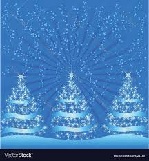 sparkly trees royalty free vector image