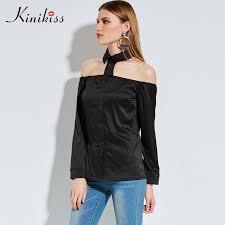womens black blouse kinikiss 2017 black blouse shoulder