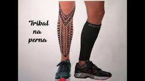 tattoo tribal na perna masculina desenhando uma tatuagem na perna youtube