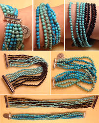bracelet beaded diy images How to make beaded and leather bracelets aelida png