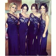 aliexpress com buy chic lace sheer royal blue mermaid bridesmaid