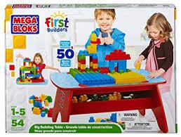 mega bloks first builders table amazon com mega bloks first builders big building table toys games
