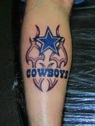 dallas cowboys tattoo designs have cowboy tattooed friends and