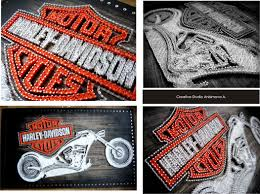 Harley Home Decor by Harley Davidson String Art Custom Harley Wall Art Harley