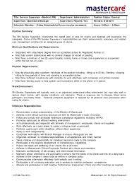 Production Job Description For Resume by Supervisor Job Description American Dream Clean Supervisor Job