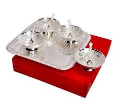 silver gift items india bowls set silver plated silver plated gift items manufacturer