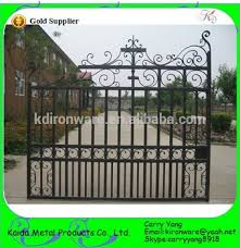factory price ornamental wrought iron gate simple view