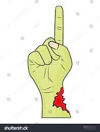 halloween scary background green zombie hand finger gesture halloween vector stock vector 325819595