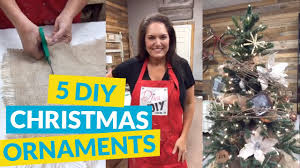 5 diy christmas ornaments with a rustic twist youtube
