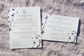catholic wedding invitations eggplant lavender butterfly vines catholic and hindu wedding
