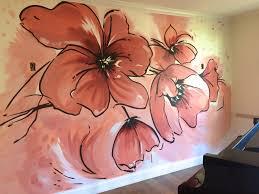 poppy home decor modern poppy floral mural by meme hill studio home decor