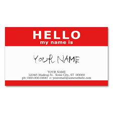 hello my name is with qr code business card template this great