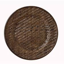 Wicker Paper Plate Holders Wholesale Rattan Charger Plates Round Rattan Brick Brown 13 Inch Charger