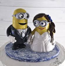 minion wedding cake topper and wedding cake toppers my custom cake topper