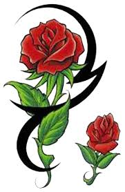 Tribal Tattoos With Roses - tribal tattoos high quality photos and flash designs of