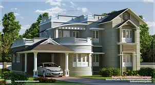 new style home exterior feet kerala design floor home building