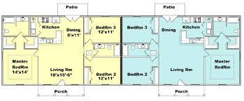 Duplex Floor Plan Duplex House Plan J1377d