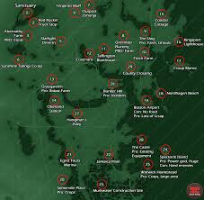 Fallout New Vegas Map With All Locations by The Explorable Area In Fallout 4 Is 3 82 Square Miles Or 9 90