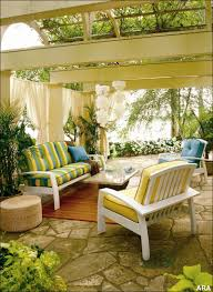 beautiful outdoor living spaces integrate with great semi circle