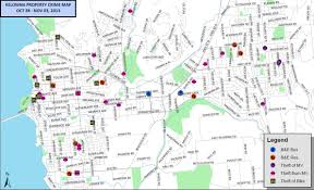 Crime Rate Map Kelowna Property Crime Mapped For Visual Effect