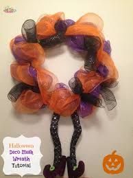 halloween deco mesh wreath tutorial