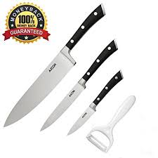 professional kitchen knives set aicok professional chef knife kitchen knife set german high carbon