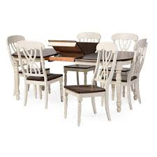baxton studio newman chic country cottage antique oak wood and baxton studio newman chic country cottage antique oak wood and distressed white 7 piece dining