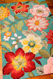 Floral Pattern Rugs Decorating Pretty Colorful Nourison Rugs With Flower Pattern For