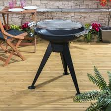 Firepit Swing by Outsunny Outdoor Garden Patio Adjustable Barbecue Double Grill