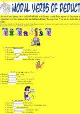 english worksheets modal verbs worksheets