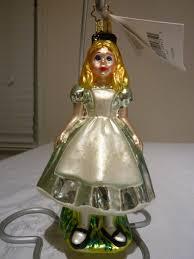 christopher radko disney alice in wonderland alice glass ornament