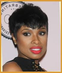 Jennifer Hudson Short Hairstyles Jennifer Hudson Short Straight Casual Hairstyle Black Regarding