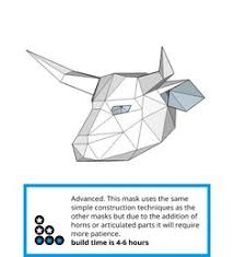 printable bull mask bull mask diy printable animal head instant pdf download diy