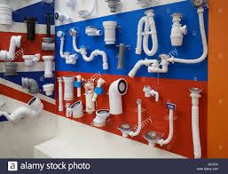 pvc pipe plumbing system in new home construction stock photo