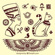 imagenes egipcias para imprimir elementos de dioses egipcios esbozados descargar vectores gratis