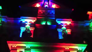 Christmas House Light Show by Cambridge Ohio Christmas Court House Light Show Guernsey County