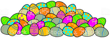 Decorated Easter Eggs Clip Art by Pile Of Decorated Easter Eggs Stock Vector Art 516206102 Istock