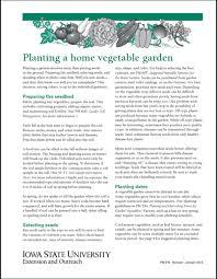 planting a home vegetable garden