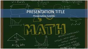 free powerpoint template math free educational chalkboard ppt