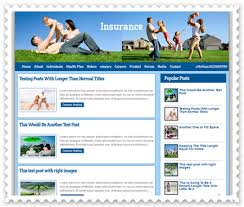insurance co blogger template free download xml blogger themes