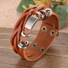 leather bracelet fashion images If me new simple leather bracelet men jewelry fashion wrap jpg