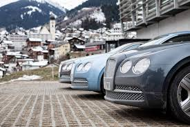 bentley blue sky blue bentley continental flying spur in st moritz 3 images