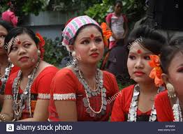 bangladeshi indigenous peoples with the traditional dress and
