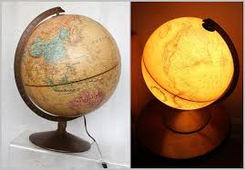 earth globes that light up mid century modern bauhaus style moon globe and world globe bookends