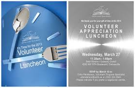 volunteer appreciation lunch invitation