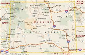 map of wyoming wyoming map