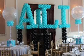 Sweet 16 Table Centerpieces Balloon Artistry Nj Ny Party Decorators