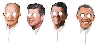 halloween president masks amazon com modern day presidents masks 4 pack clothing